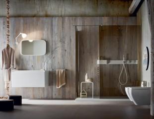 Vasca Da Bagno Con Rubinetteria Integrata : Mobile per bagno con mensola con rubinetto a scomparsa idfdesign