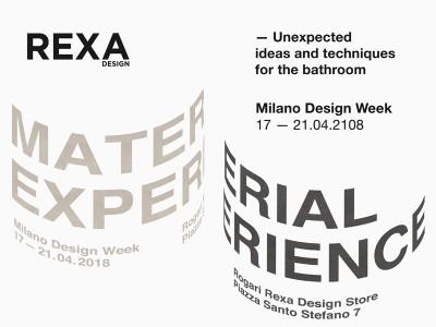 Rexa Design Material Experience @ Fuorisalone 2018